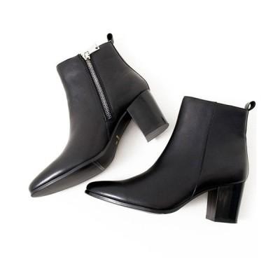 ブーツ 日本製サイドジップレザーブーツ / ELB516-4