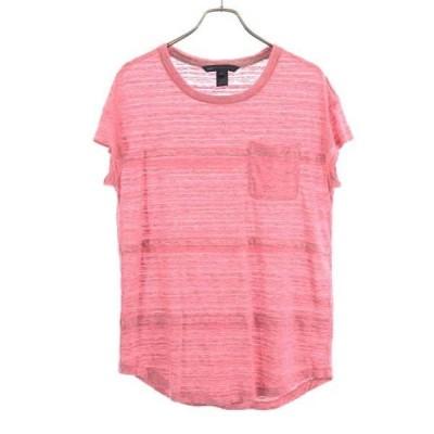 マークバイマークジェイコブス 半袖 Tシャツ S ピンク系 MARC BY MARC JACOBS スラブ リネン コットン レディース 古着 200827 メール便可