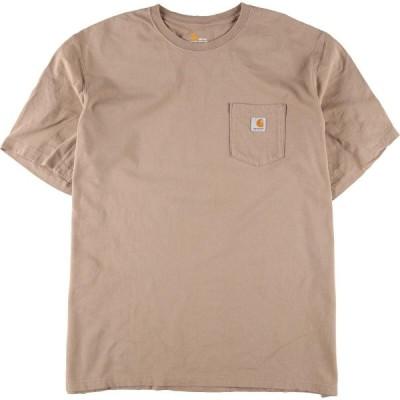 カーハート Carhartt ワンポイントロゴポケットTシャツ メンズXXL /eaa155407