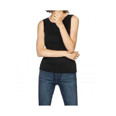 Lilla P リラP レディース 女性用 ファッション トップス シャツ 1x1 Rib Boatneck Tank - Black