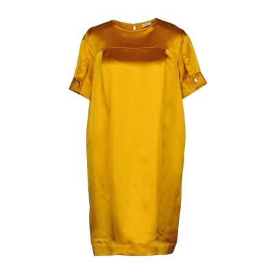 GOLD CASE ミニワンピース&ドレス オークル 40 レーヨン 70% / 麻 30% ミニワンピース&ドレス