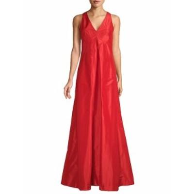 オスカーデラレンタ レディース ワンピース Sleeveless V-Neck Silk Gown