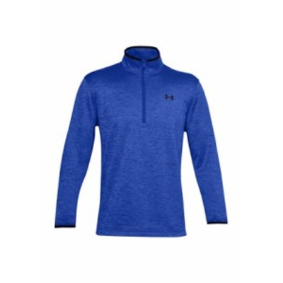 アンダーアーマー メンズ パーカー・スウェット アウター Fleece Half Zip Pullover Emotion Blue