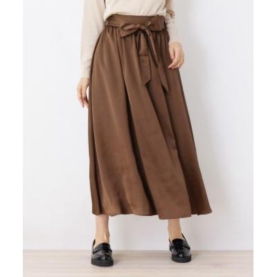 OPAQUE.CLIP(オペークドットクリップ) サテン×Aラインスカート