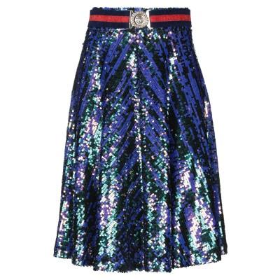 W LES FEMMES by BABYLON ひざ丈スカート ブルー 40 ナイロン 96% / ポリウレタン 4% ひざ丈スカート