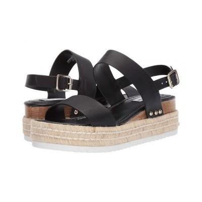 Steve Madden スティーブマデン レディース 女性用 シューズ 靴 ヒール Catia Wedge Sandal - Black Leather