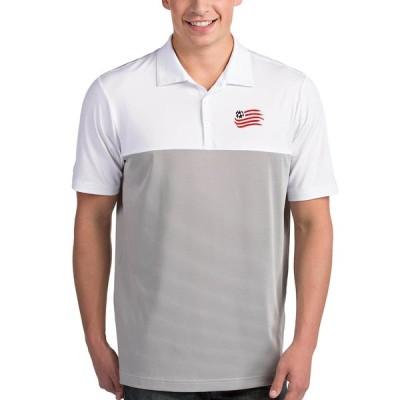 """メンズ ポロシャツ """"New England Revolution"""" Antigua Venture Polo - White/Steel"""