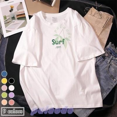 半袖Tシャツ レディース Tシャツ 夏 カットソー ゆったり サマーTシャツ 丸首 夏Tシャツ お洒落 ゆったりTシャツ 半袖 快適