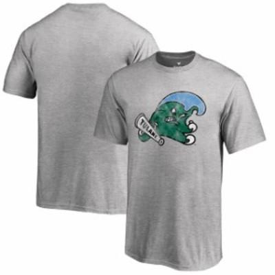 Fanatics Branded ファナティクス ブランド スポーツ用品  Fanatics Branded Tulane Green Wave Youth Heathered Gray Classic Primary T