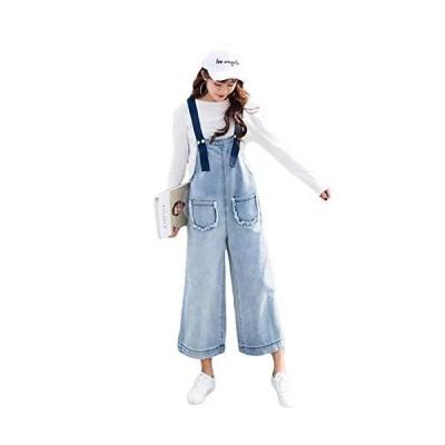 BeiBang(バイバン)サロペット デニム レディース ゆったり ワイドパンツ オーバーオール 韓国ファッション ジー?