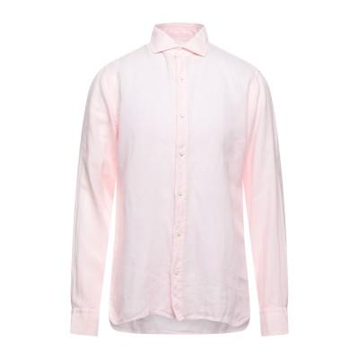ZZEGNA シャツ ライトピンク L リネン 100% シャツ