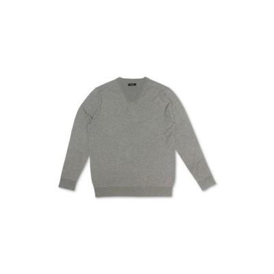 アルファニ メンズ ニット・セーター アウター Men's Solid V-Neck Cotton Sweater