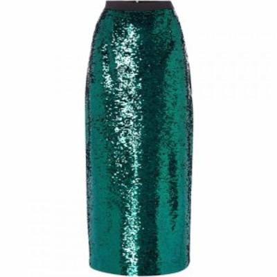 リネアペレ Linea レディース ひざ丈スカート スカート SEQUIN PENCIL SKIRT Green 8 Green
