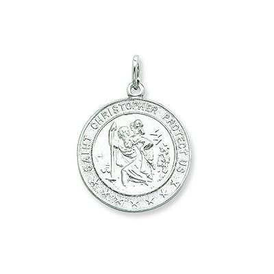 スターリング シルバー Saint Christopher メダル ペンダント ネックレス チェーン インクルード(海外取寄せ品)