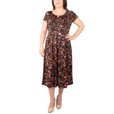 ニューヨークコレクション ワンピース トップス レディース Petite Printed Dress Jet Shadegarden
