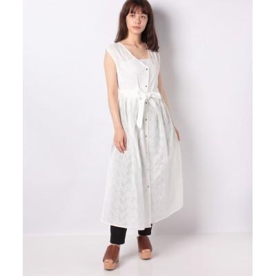 【ブージュルード】 総刺繍3WAYシャツワンピ レディース オフホワイト 38 Bou Jeloud