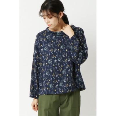 【エルビーシー】 レーヨンツイル花柄ブラウス レディース ネイビー M(9ゴウ) LBC