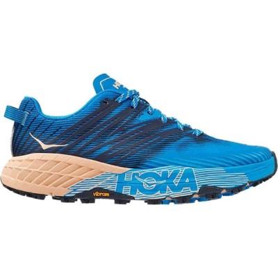 ホカ オネオネ HOKA ONE ONE レディース ランニング・ウォーキング シューズ・靴 Speedgoat 4 Trail Running Shoe Indigo Bunting/Bleached Apricot