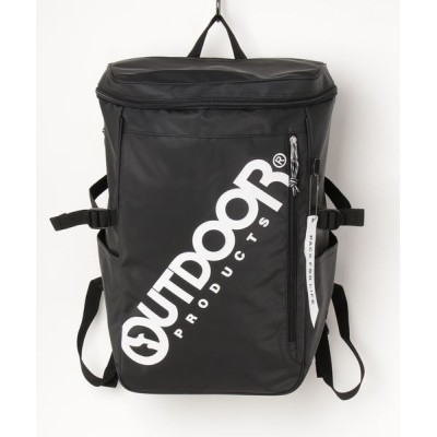 OUTDOOR PRODUCTS / コーティングスクエアデイパック ビッグロゴプリント バックパック MEN バッグ > バックパック/リュック