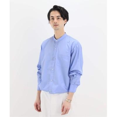 メンズ エディフィス 【HERILL / ヘリル】Stand Collar Shirts ブルー A 3
