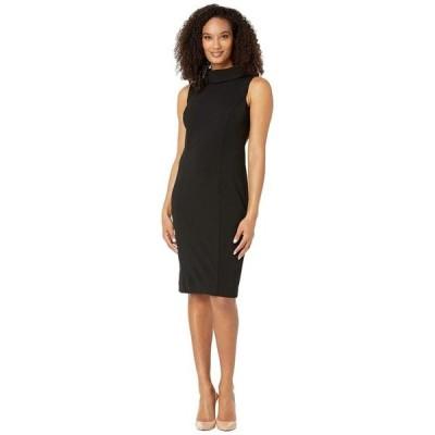 タハリ レディース ワンピース トップス Sleeveless Stretch Crepe Sheath Dress with Envelope Collar