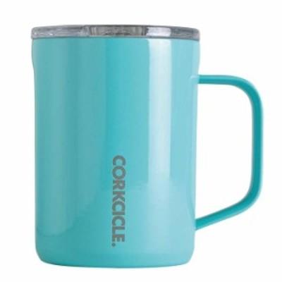 ステンレスマグカップ 400ml 保冷 保温 CORKCICLE COFFEE MUG Turquise 16oz 400ml ターコイズブルー フタ付き コーヒーカップ マグ
