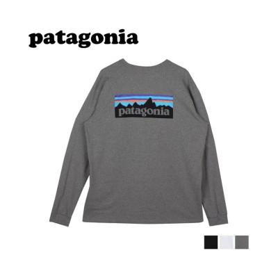 (patagonia/パタゴニア)パタゴニア patagonia Tシャツ 長袖 ロンT カットソー レスポンシビリティー メンズ P-6 LOGO RESPONSIBILI TEE ブラック/メンズ グレー