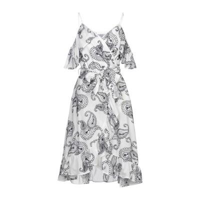 BRIGITTE BARDOT ミニワンピース&ドレス ホワイト S/M コットン 100% ミニワンピース&ドレス