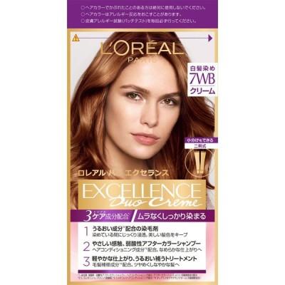 日本ロレアル エクセランス N クリームタイプ 7WB ウォーム系の明るい栗色 48g+48g (医薬部外品)