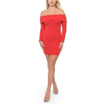 ビーダーリン レディース ワンピース トップス Off-The-Shoulder Long Sleeve Sheath Dress