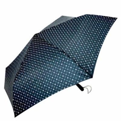 【UVION】 新型自動開閉54 ラクローズ 小紋ネイビー 7642 傘 折りたたみ傘 雨傘 日傘 兼用(代引不可)【送料無料】