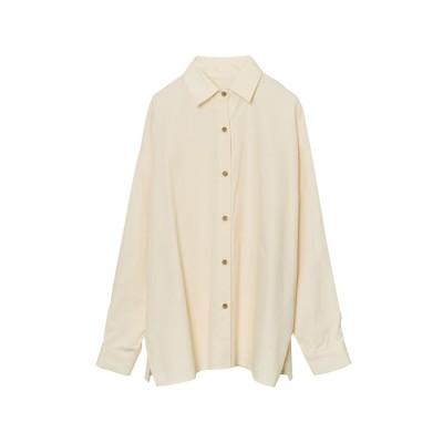 リエディ Re:EDIT オーバーサイズフロントボタンシャツ (ベージュ)