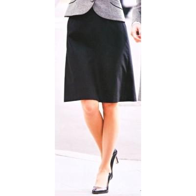 S-15640 Aラインスカート(53cm丈) ブラック 全1色 (セロリー SELERY クレッセ 事務服 制服)