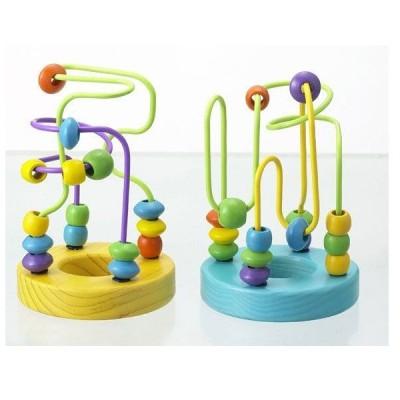 知育玩具 ミニルーピングセット 2個入 エドインター Ed.Inter 木製玩具 木のおもちゃ 子供 ギフト パズル ビーズコースター 誕生日プレゼント SNS