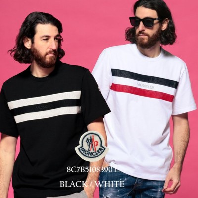 モンクレール メンズ 半袖 Tシャツ MONCLER トリコロール メッシュ クルーネック ブランド トップス ロゴ コットン MC8C7B5108390T