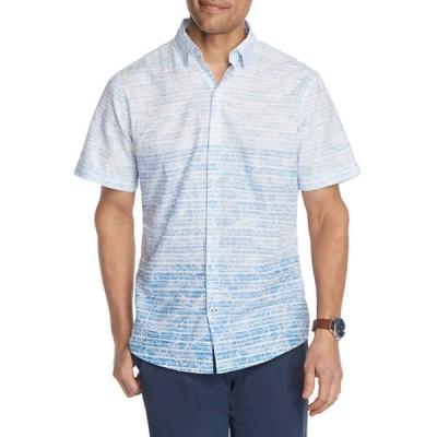 アイゾッド メンズ シャツ トップス Dockside Chambray Printed Button-Down Shirt