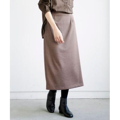 Perle Peche / コルチェヘリンボンロングスカート WOMEN スカート > スカート