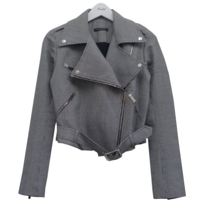 Christopher Kane ライダースジャケット ブラック×ホワイト サイズ:UK6 (渋谷神南店) 201012