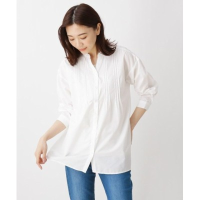 (SHOO・LA・RUE/シューラルー)【2点セット】ピンタックシャツ+インナー/レディース ホワイト(002)