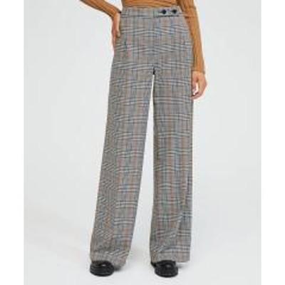 シスレー(ファッション)グレンチェックワイドパンツ