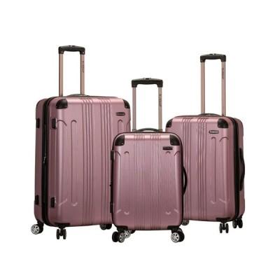 ロックランド Rockland レディース スーツケース・キャリーバッグ ハードサイド バッグ Sonic 3-Pc. Hardside Luggage Set Pink