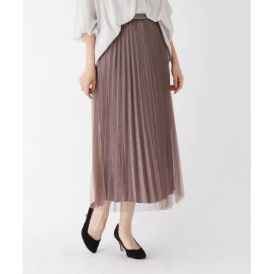 WORLD ONLINE STORE SELECT / 【手洗い可】チュールサテンプリーツスカート WOMEN スカート > スカート