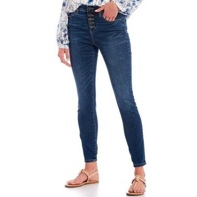 ジャグジーンズ レディース デニムパンツ ボトムス Valentina High Rise Faux Button Fly Pull-On Skinny Jeans Tribeca Blue