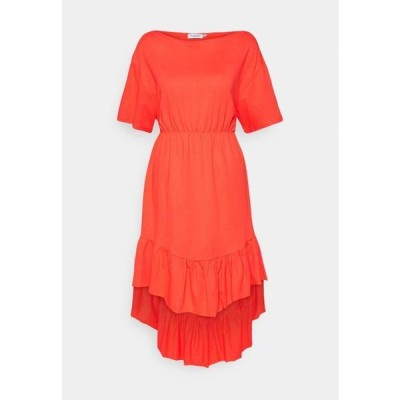 モリーブラッケン レディース ファッション YOUNG LADIES DRESS - Day dress - red orange