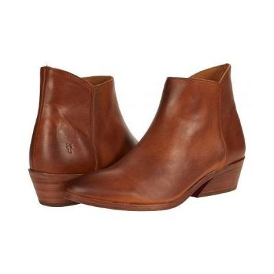Frye フライ レディース 女性用 シューズ 靴 ブーツ アンクル ショートブーツ Farrah Inside Zip Bootie - Caramel Antique Pull Up