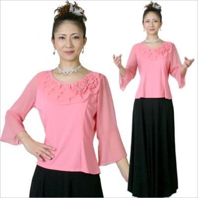 コーラスブラウス コーラス衣装 合唱衣装 舞台衣装 ピンク