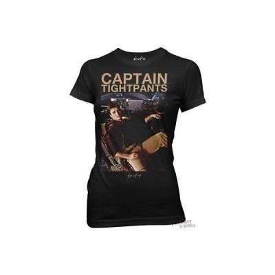 トップス ファイアーフライ Firefly Captain Tightpants Mal Serenity Junior T Shirt