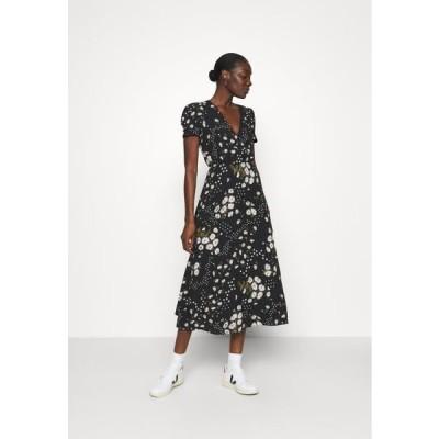 メイドウェル レディース ドレス CREWNECK DRESS FLORAL - Day dress - black