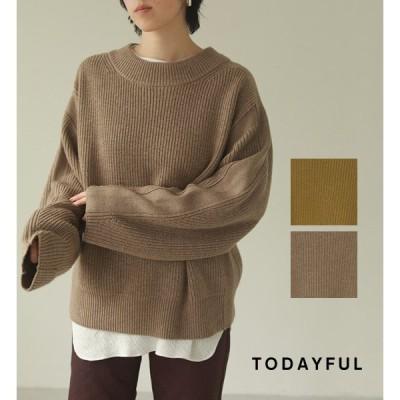 【SALE】TODAYFUL(トゥデイフル)Line Over Knit ラインオーバーニット