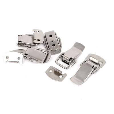 uxcell パッチン錠 パッチン錠 パッチン錠 掛け金 引き出しラッチ 鉄製 キャッチプレート付き 5個入り